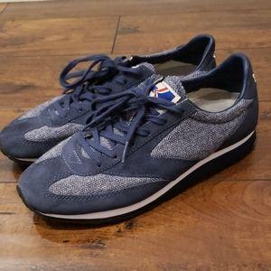 Brooks vanguard tweed navy blue womens sneakers